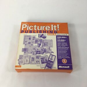 Microsoft Picture It! Publishing Gold Edition 2000 PC Computer Software