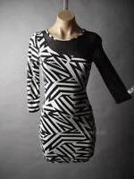 Sale Black White Graphic Stripe Sheer Mesh Club 80s Party Bodycon 31 mv Dress