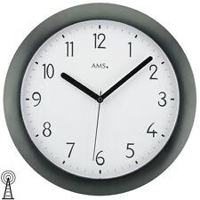 NEU Wanduhr Uhr Funk Funkuhr schwarz weiß  AMS Ø 28 cm Büro Praxis Wartezimmer