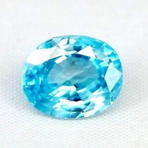 TOP BIG ZIRCONE : 6,10 Ct Natürlicher Blau Zirkon aus Kambodscha