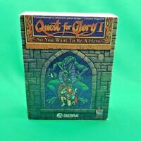 """Quest for Glory I So You Want to be A Hero Big Box PC MS-DOS 3.5"""" Sierra 1992"""
