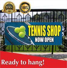 Tennis Shop Now Open Banner Vinyl / Mesh Banner Sign Grand Opening New Store