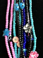 Wholesale Beaded Necklaces Lot Of 10 Handmade Stretch Necklaces NEW