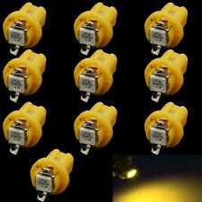 10x T5 B8.5D 5050 1SMD Yellow LED Bulbs Dashboard Cluster Gauge Side Light DC12V