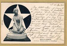 Cpa Musée du Luxembourg H. Chapu Jeanne d'Arc à Domrémy tp0192
