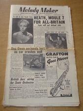 MELODY MAKER 1954 OCTOBER 23 TED HEATH REG OWEN BRITISH JAZZ ANNIE ROSS +