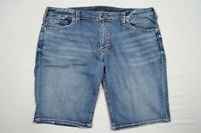 "Silver 40 x 12.5"" Zac Stretch Dark Wash Denim Jean Shorts"