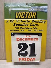 Vintage Victor Welding Co Tx Advertising Calendar Schutte Supplies Lacaster Pa