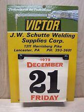 Vintage Victor Welding Co Tx Advertising Calendar Schutte Supplies Lacaster Pa