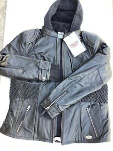 Harley Davidson Women's AMELIA Black Leather Jacket B&S Wings 3in1 97189 3W