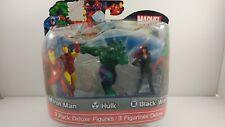 Marvel Advengers 3 Pack Deluxe figures Iron man, Hulk, Black widow