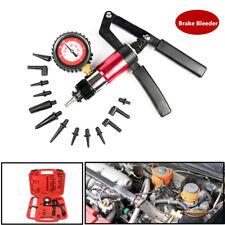 Hand Held Vacuum Pressure Pump Tester Tool Set Brake Bleeder Adapter Kit For Car