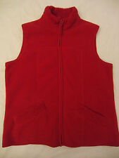 Mountain Lake Fleece Soft Vest Zip up with Pockets Red  Womens  M Medium