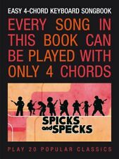 TO CLEAR*  SPICKS & SPECKS EASY 4 CHORD KEYBOARD SONG BOOK PIANO SONGBOOK