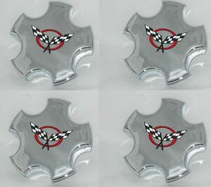 4 CAP DEAL 2000-2004 01 02 CHEVY CORVETTE Z06 C5 AM CHROME RIM WHEEL CENTER CAP