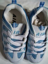 Air Boys or Girls Unisex White & Light Blue Roller Wheel Sneakers Shoes Size 6
