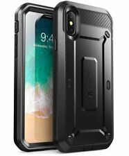 Apple iPhone X 10 Case Dual Layer Cover Built Super Tough Strong Protector Clip
