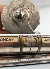 Antique Silver Plated Brass Perpetual Calendar 1910s (ASBESTOS CEMENT INDIA LTD)