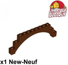 Lego - 1x Brique Brick Arche Arch 1x12x3 raised marron/reddish brown 18838 NEUF