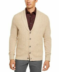 Tasso Elba Men's Cashmere Button Cardigan Camel Size Small