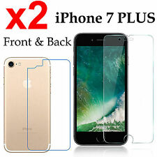 x2 Anti-scratch 4H PET film screen protector Apple iphone 7 PLUS front + back
