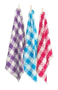 RANS Polka Dots Tea Towels - pack of 12 pieces Waffle Design