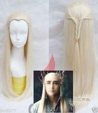The HobbitS Cosplay Thranduil Long Light blonde Braid Hair Wig   @52