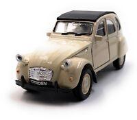 Citroën 2CV Maquette de Voiture IN Beige Maßstab 1:3 4 (Licencé)