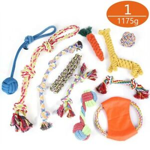 Dog Rope Toys for Aggressive Chewers-Set of 11 Nearly Indestructible Pet Dog Toy