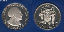 Jamaica Jamaique - 1 Dollar 1976 Bustamante PROOF UNC FDC 24 000 exemplaires
