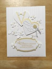 Handmade Fancy 50th Wedding Golden Anniversary Floral Card - Made to Order