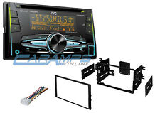 JVC DOUBLE DIN CAR STEREO RADIO DECK W INSTALL KIT & SIRIUS XM READY & BLUETOOTH