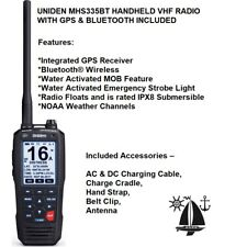 UNIDEN Integrated GPS Receiver MHS335BT VHF RADIO & BLUETOOTH With MOB Feature