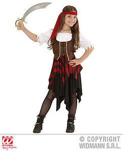 Kids Graziosa Ragazza Pirata Caraibi Bucaniere Costume Costume Libro Settimana