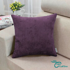 Set of 2 Cushion Covers Pillows Cases Striped Dyed Teal Home Sofa Decor 50x50cm