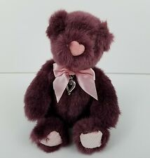 Brighton Heartley Teddy Bear Plush Purple Pink Heart Charm New without Tags