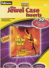 Fellowes Neato Slim Jewel Case Inserts 50 Matte Inserts 99997