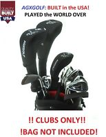 """TALL +1.5"""" MENS LEFT HAND COMPLETE GOLF SET wDRIVER+3WD+3HY+5-9 IRONS+PW+PUTTER"""
