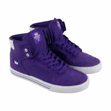 NEW SUPRA VAIDER PURPLE WHITE 08044-501 SKATE SKATEBOARDING SHOES 10