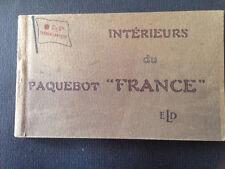 Carnet 12 CPA Paquebot France. 1912