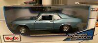 Maisto Special Edition 1:18 1970 Chevrolet Nova SS Coupe Blue factory sealed