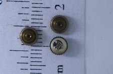 LECOULTRE WATCH PARTS--CROWN 14K YELLOW DUSTPROOF SPRING LOADED TAP 10