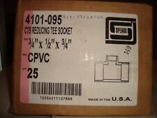"""Spears 3/4"""" X 1/2"""" X 3/4"""" CTS Reducing Tee Socket #4101-095 Box of 25"""