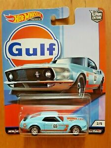 HOT WHEELS CAR CULTURE 2019 G ~ GULF ~ 2/5 '69 FORD MUSTANG BOSS 302