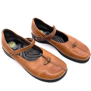 """Gelron 2000 Womens Shoes Size 9 Brown Leather Mary Janes 1"""" Heel Earth Shoe"""