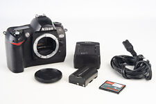 Nikon D70 6.1MP Digital SLR Camera Body with 4GB CF Card Battery & Charger V15