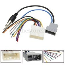 Car DVD Radio Install Stereo Wire Harness Cable Plugs Antenna Adapter For Nissan