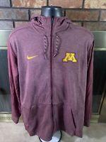 NIKE Dri Fit Minnesota Golden Gophers NCAA Track Basketball Jacket Mens Size XL