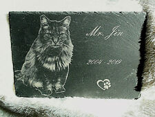 Ideal Valentines Gift Personalised Pet Memorial  Engraved Photo onto Slate Stone