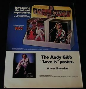 Andy Gibb-Love Is Poster-ORIGINAL 1978-15x11 COLOR Ad/Poster